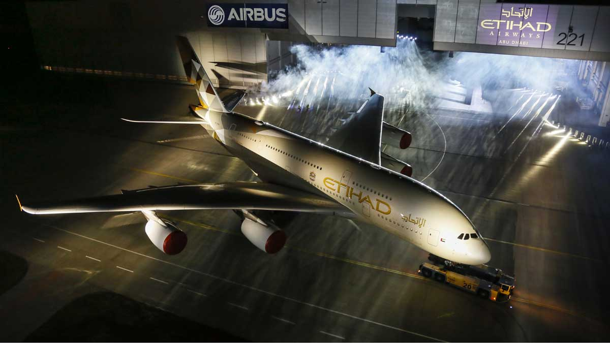 Airbus A380 Etihad Livery Reveal (© AIRBUS)